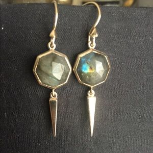 Melinda Maria labradorite spike earrings